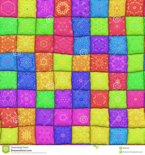 3d Patchwork - patchwork pattern stock photo image 8295490