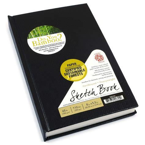 sketchbook book bamboo hardbound sketchbook pentalic