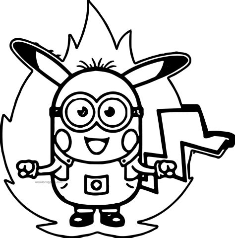evil minions coloring pages evil pikachu coloring pages pictures to pin on