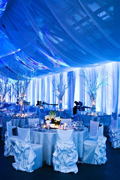 blue and silver theme hanging chairs blue and silver wedding reception ideas blue and silver theme interior