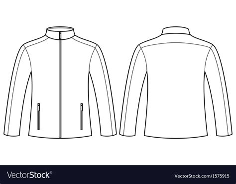 desain vektor jaket jacket template front and back royalty free vector image