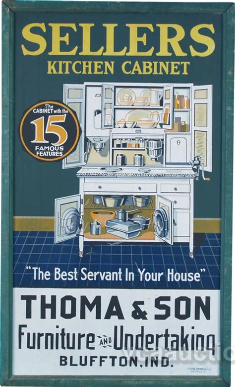 kitchen cabinet advertisement sellers kitchen cabinet tin advertising sign