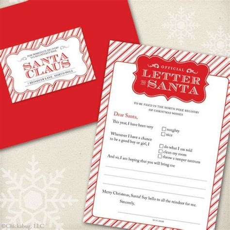 Official Gift Letter Penguin S Gift Official Letter To Santa From Chickabug
