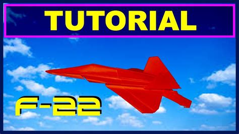Origami F 22 Raptor - origami airplanes tutorial of f 22 raptor with no cuts