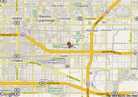 california map la quinta map of la quinta ontario airport inn and suites ontario