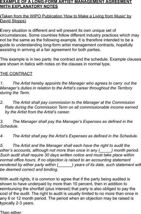 Underpaid Invoice Letter Free Term Artist Management Contract Template Exle For Pdf
