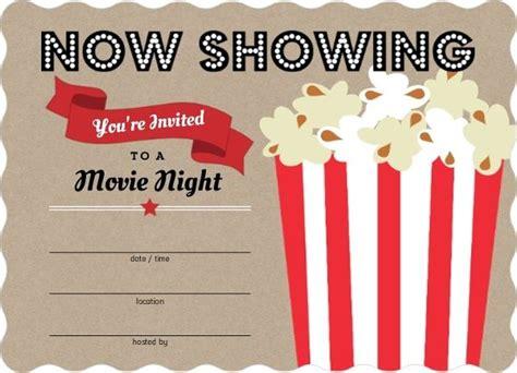 printable movie invitation templates movie popcorn bucket fill blank party invitations 29129