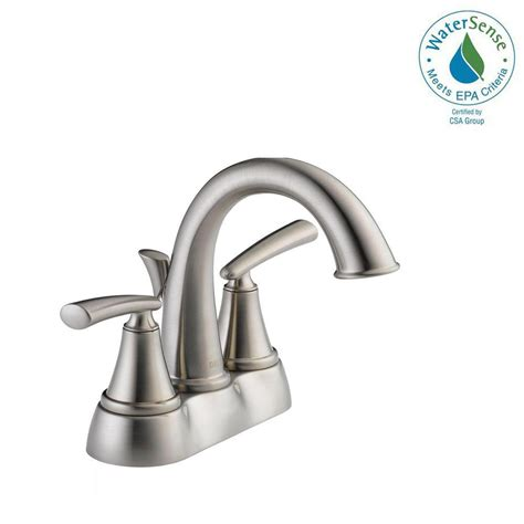 delta kennett 4 in centerset 2 handle bathroom faucet in