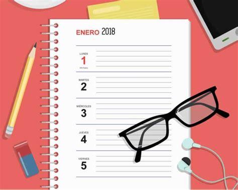 agenda escritorio agenda semanal de escritorio 2018 gratuita y lista para