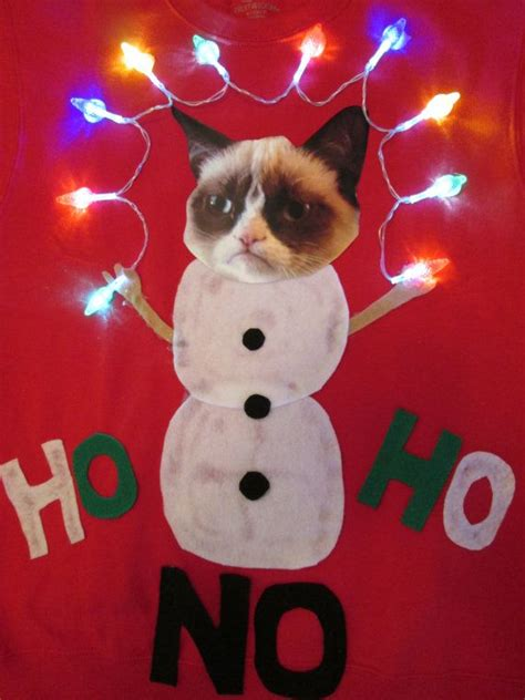 cat sweater with lights sweater with lights grumpy cat by