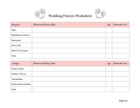 8 best images of free wedding templates printable planners