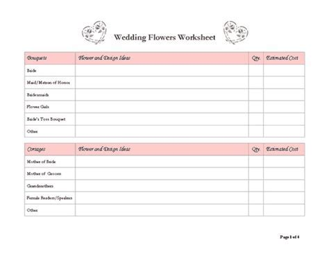 Free Wedding Planner Templates   shatterlion.info