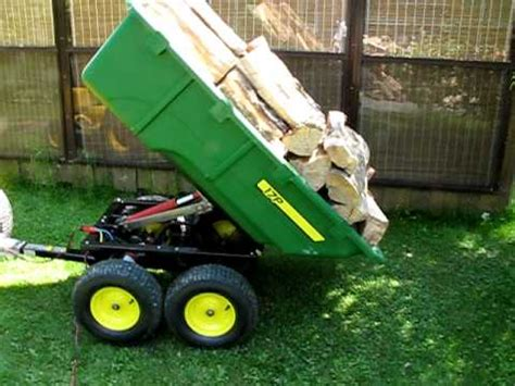 john deere 17p hydraulic dump cart youtube