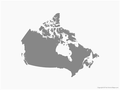free us canada vector map vector map of canada single color free vector maps