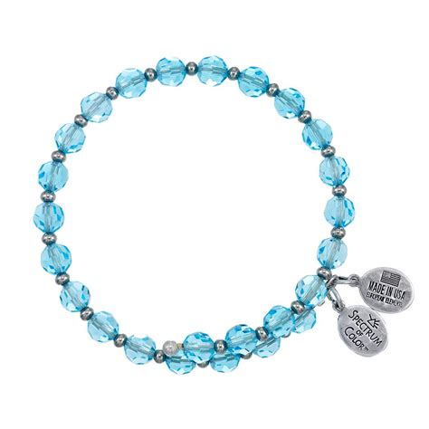 6mm bead bracelet 6mm aqua with spacer bead wrap bracelet wind and