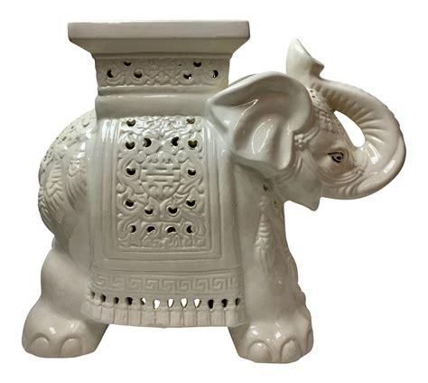 elephant garden stool white elephant garden stool chairish