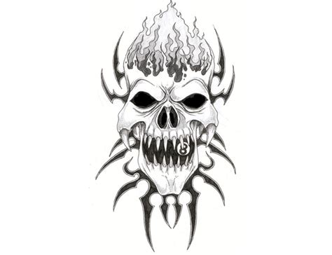 evil skull drawings clipart best