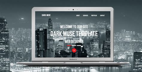 dark muse one page parallax template by loveishkalsi
