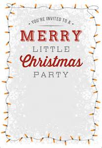 christmas invitation templates sle templates