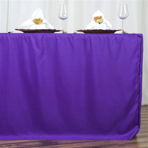 6 x fitted 6 polyester table covers tablecloths for