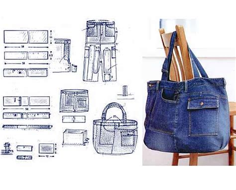 pattern for jeans bag jeans bag patterns 12 amazing recycled jeans bags with