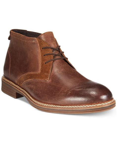 mens alfani boots alfani s mixed media chukka boots only at macy