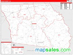 shelby county texas map shelby county tx zip code wall map line style by marketmaps