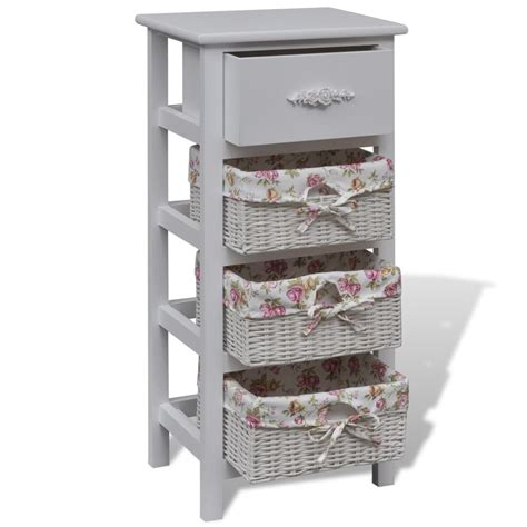 console with baskets and drawers vidaxl co uk white with 1 and 3 baskets wood