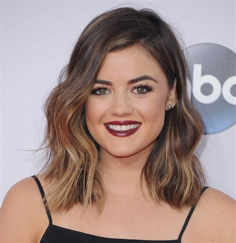 pictures of hair cut for year lucy hale lucy hale ombre short hair and long bob