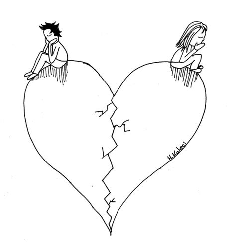 Broken Heart By Emos Coloring Coloring Pages Broken Coloring Pages