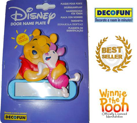 Winnie The Pooh Door Sign by Decofun Winnie The Pooh Door Name Plaque Plate New Nursery