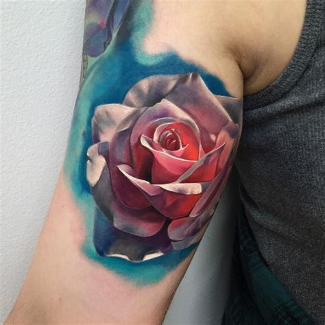 3d tattoos of roses realistic 3d realistic