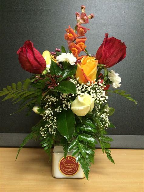 fresh flower arrangement pin by creative creations on candle arrangements pinterest