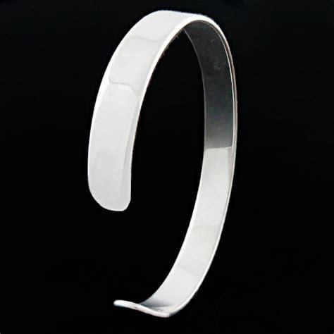Bracelet argent massif, Jonc ruban plat 5mm, 8 ou 12mm, gravure