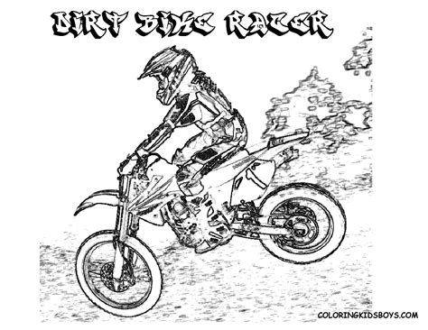 Hard Rider Dirtbike Print Outs Pocket Bikes Free Pit Motocross Coloring Pages