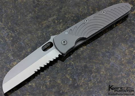 Tom Handcrafted Knives - tom titanium wharncliffe linerlock