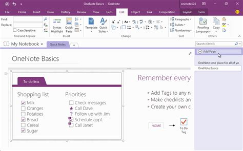 gems cornell note template  fields  onenote office onenote gem add ins