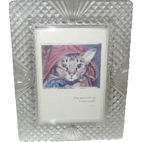 gorgeous heavy cut glass picture frame from rosanne lynch