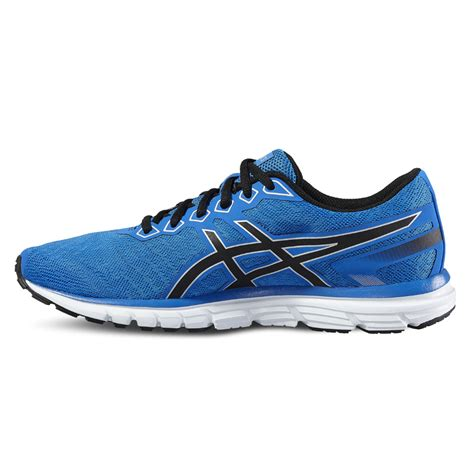asics sports shoe asics gel zaraca 5 mens blue cushioned running sports