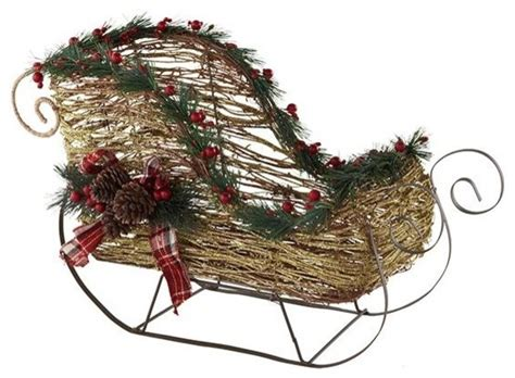 decorative sled traditional outdoor holiday decorations