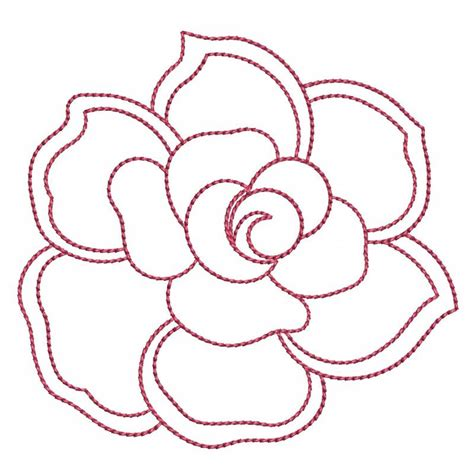 embroidery design outline outline flower embroidery design