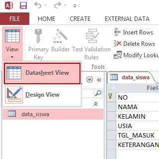 membuat database e learning cara membuat database dengan ms access 2013 dengan mudah