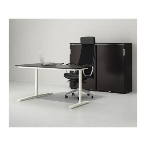 Black Corner Desk Ikea Bekant Corner Desk Right Black Brown White 160x110 Cm Ikea