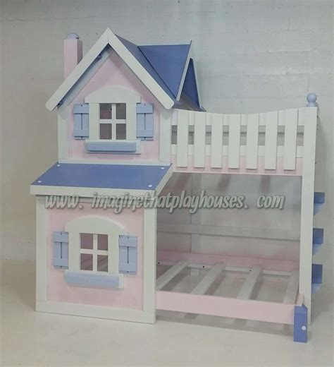 Dollhouse Bunk Beds Dollhouse Bunk Bed Painted By Imaginethatplayhouse