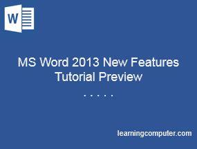 video tutorial word 2013 directory images computer tutorials