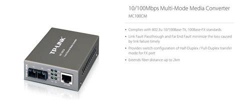 Tplink Mc100cm Multi Mode Media Converter tp link mc100cm fast ethernet rj45 to multi mode sc fibre media converter mc100cm ple