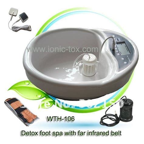 Detox Bath For Energy by Dual Detoxification Foot Spa Machine With Fir Belt