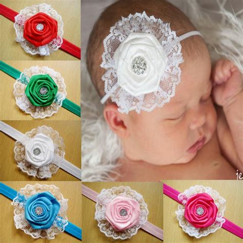 2014 new fashion 12 color flower baby headband 2014 baby toddler hair accessories lace flowers headband