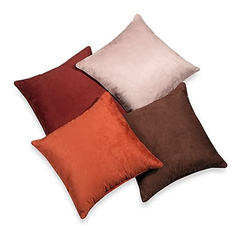 bed bath and beyond decorative pillows suede 20 inch square throw pillow bed bath beyond
