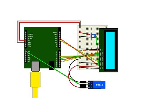 arduino  dht output  lcd module hive  blog